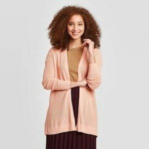 Long Sleeve Open Layered Cardigan A New Day Pink